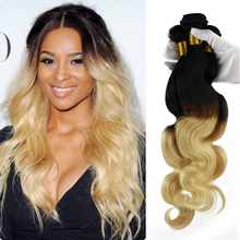 Factory price honey blonde brazilian hair weave blonde and brown