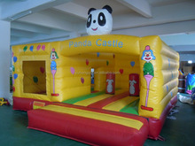 2016 high quality castle cheap inflatable houses tarpaulin panda inflatable jumping castles
