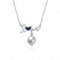 Designer 925 sterling Silver woman necklaces love pearl sea life necklace