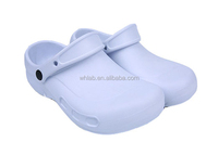 Black medical clog slippers