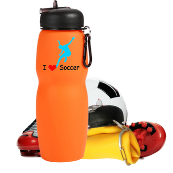 700ml colorful compressible silicone water bottle