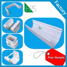 Rain Carrying Systempvc fittings end cap for pipes hot sale roof gutter in Africa