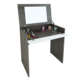 New Vintage Design Modern Cheap Bedroom Furniture Black Small Corner Mirrored Wooden Makeup Vanity Dressing Table With Mirror