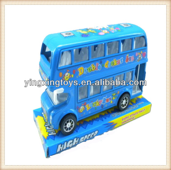new plastic friction car toys,doubel decker model bus toys