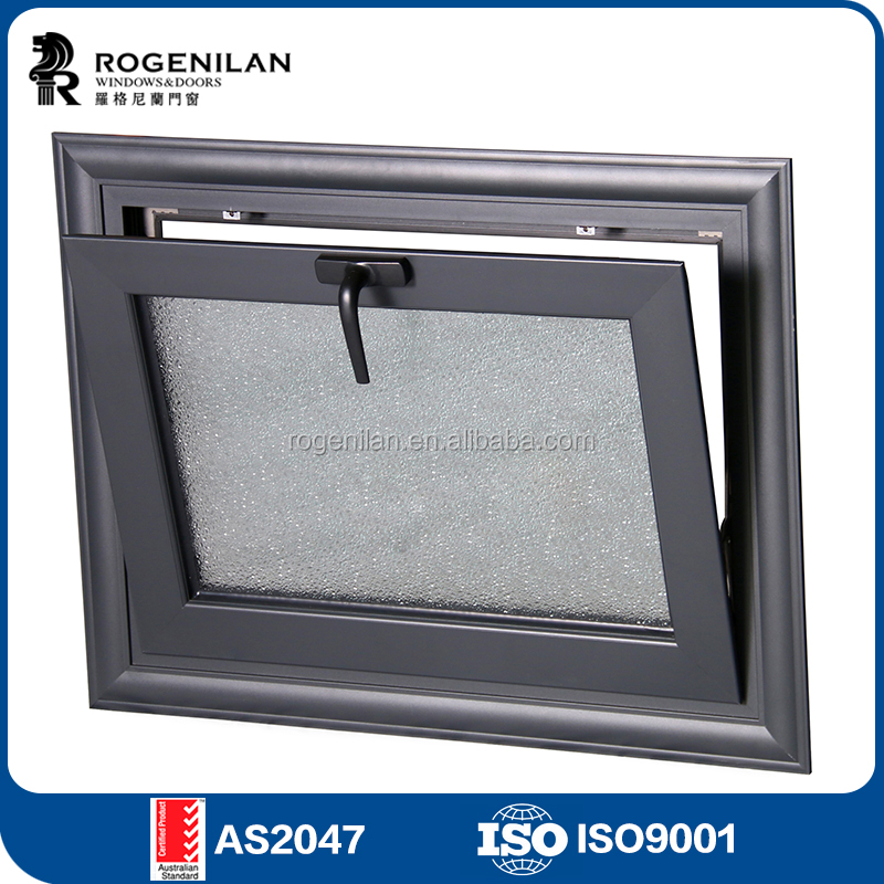 ROGENILAN 45 series latest window designs aluminum top hung casement window