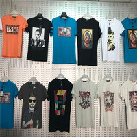 0.95 Dollar GDZW737 Wholesale Pure Cotton Assorted Prints low moq clothing, running shirts, mens running shirts