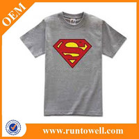 high quality sublimation print polyester superhero t shirt for men