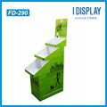 3 tiers Cardboard floor display rack for pets products