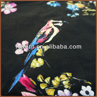 Factory Direct Digital Printed Floral Elastic Cotton Twill Curtain Fabrics