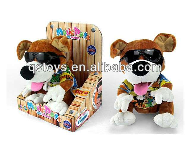 hot selling funny plush record battery operated dog toy with CE
