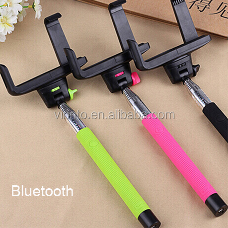 self-timer bar monopod selfie stick with bluetooth remote shutter