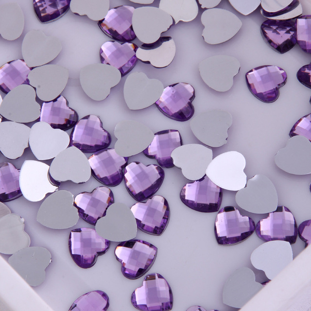 heart shape acrylic beads