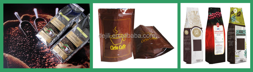 Hot Selling Black Foil Stand Up Coffee Bag Coffee