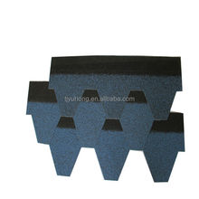 Blue Color Bitumen Roofing Shingles Asphalt Shingles