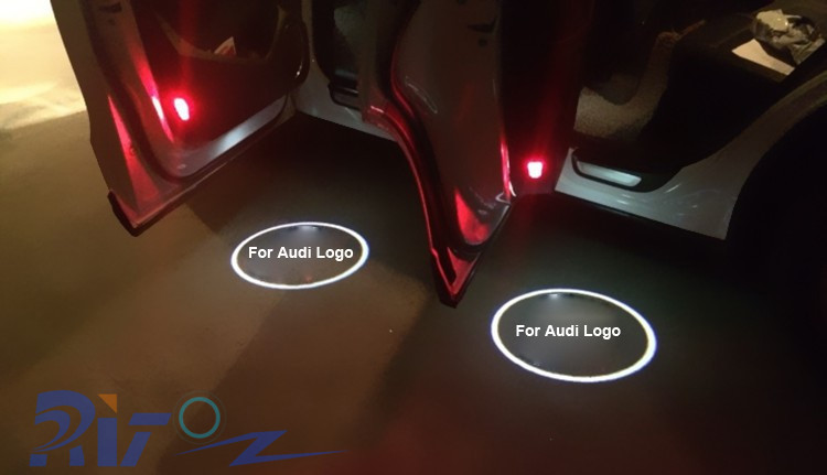 New Coming Led Welcome Light 3D Door Laser Logo Ghost Shadow Light Car Logo Projector Lights For Audi A1 A3 A4 A5