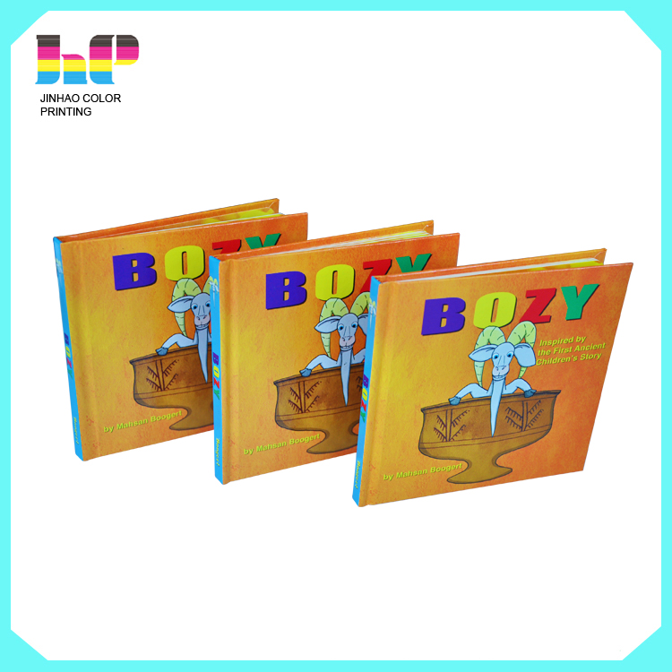 Hard cover full color children cardboard book printing