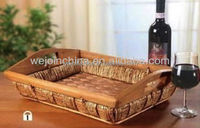 2016 Wholesale Wicker Tray with Handle for Cups or Other Clutter