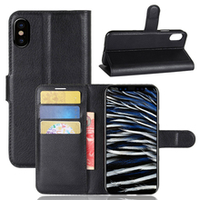 Mobile Phone OEM Magnetic Wallet PU Leather Mobile Phone Stand Flip Case For iPhone X Back Cover With Card Slots