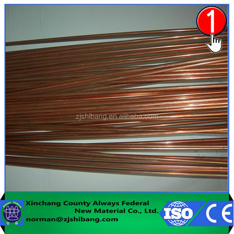 Single copper wire 1.5mm electrical cable wire clad plated lightning cable