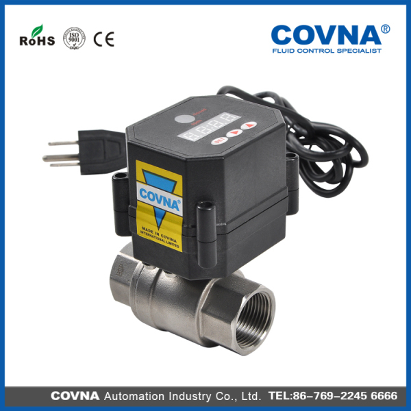 electric water valve automatic shut off water valve