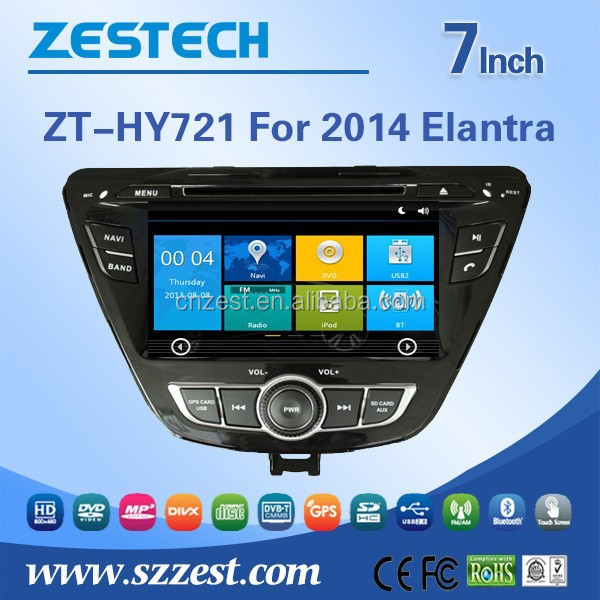 ZESTECH OEM car radio with gps for hyundai elantra accessories hot sell