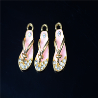 Alloy Flip Flops Pendant Red Garment Hem Pendant Scarf Pendant Bag Decoration