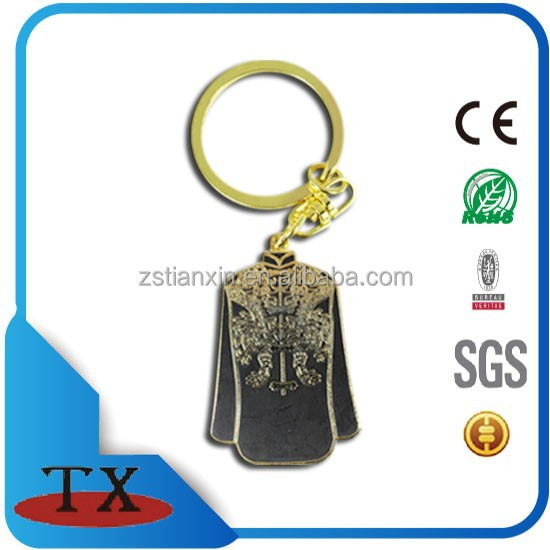 China Tang Suit Fashion Clothing Decorative Metal Key Chain