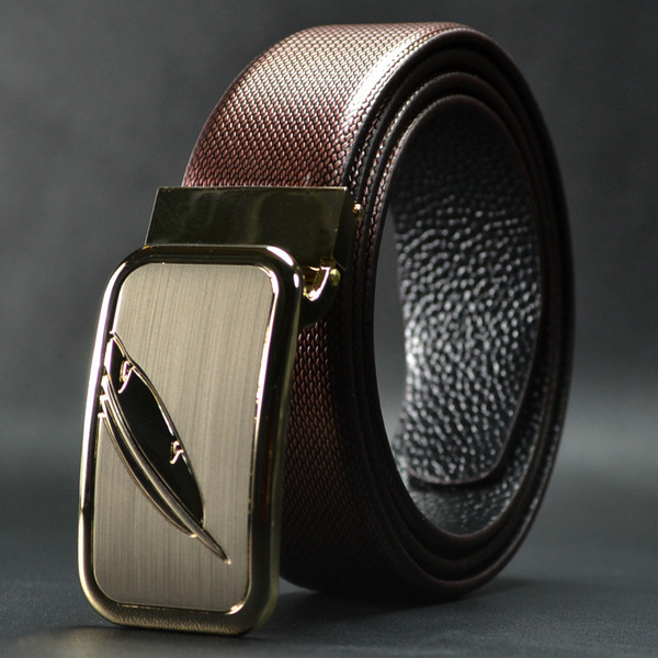 high quality fashion genuine leather formal belt for man