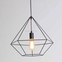 modern pendant light wrought iron droplight Edison bulbs cafe bar clothing store