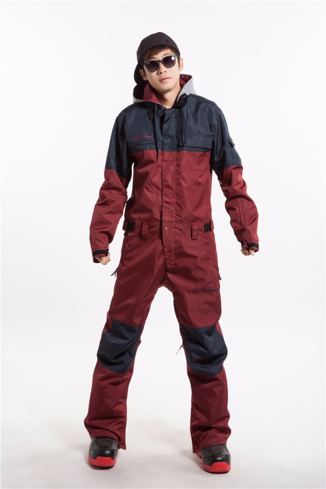 breathable colorful ski wear one piece snow suits adults