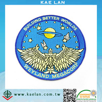 Taiwan products machine embroidery high quality logo design