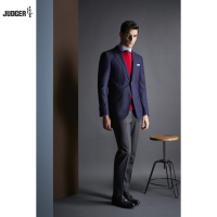 custom tailor made fashionable men suit of office business wearing with Navy Blue colors