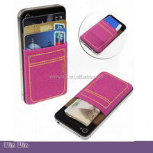 hot sales 3M sticker universal smart phone wallet style leather case