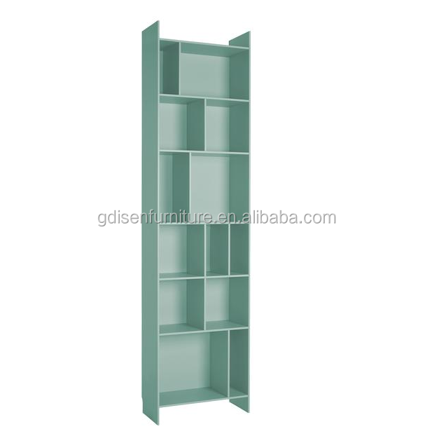 Modern MDF wood bookcase contemporary white bookself