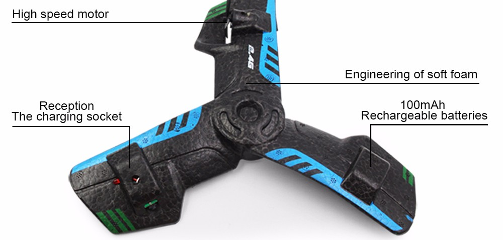UFO 2CH 2.4G Remote Control Helicopter Plastic Boomerang