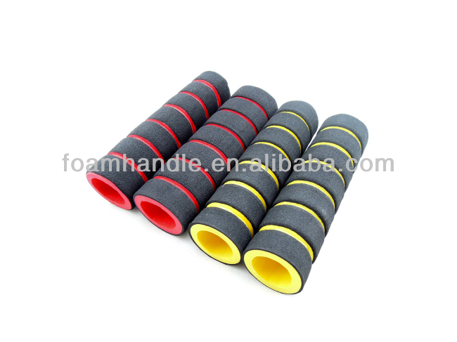 Customizable soft rubber tube / molded rubble foam handle for exercise