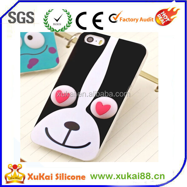 dog face silicne phone case