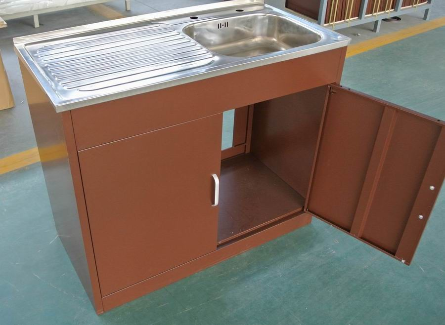 Kitchen Used Wash Steel Sink Base Cabinet - Buy Kitchen ...