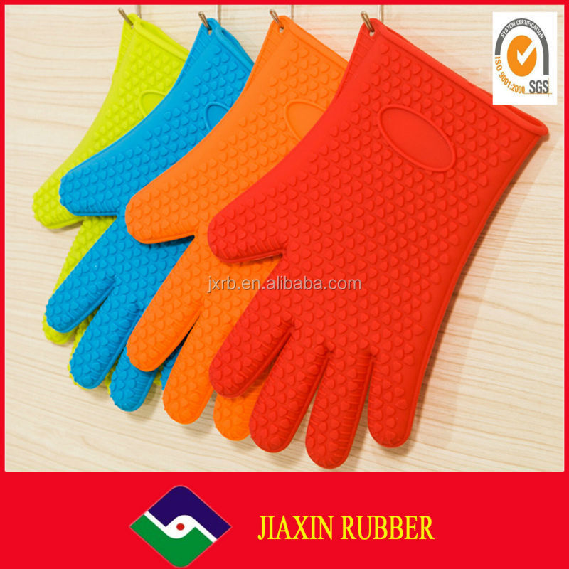 Good!professional 100% Food Grade Fashion heat resistant finger gloves