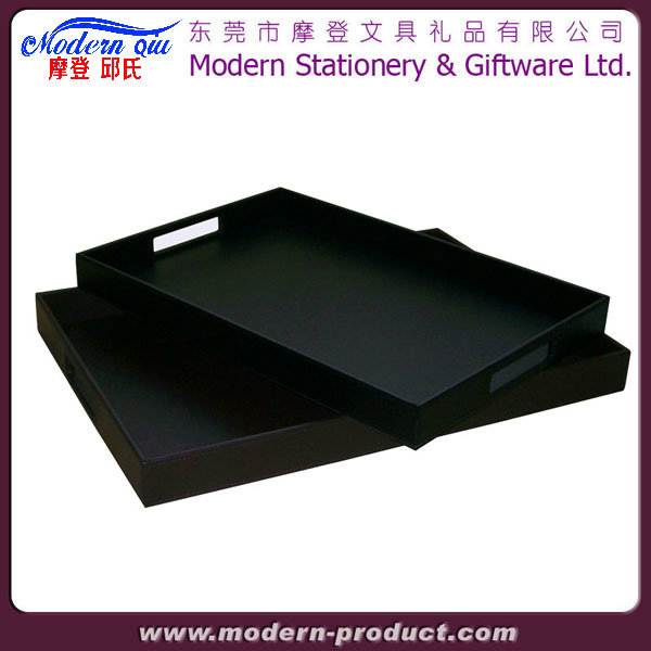 Wholesale Rectangular Large Airline Unique Leather Serving Tray