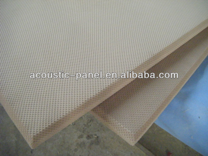 Fabric covered fiberglass acoustic wall panels