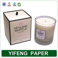 acetate candle packaging box with drawer ribbon