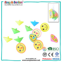 Promotional gift items foreign kids games spin tops toys