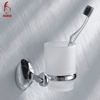 Bathroom accessories with suction cups znic alloy tumbler holder