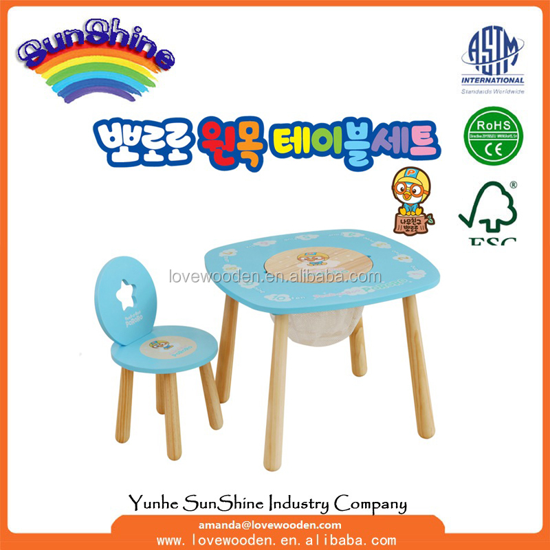 foldable kids study table and chair gift basket with Vip quality