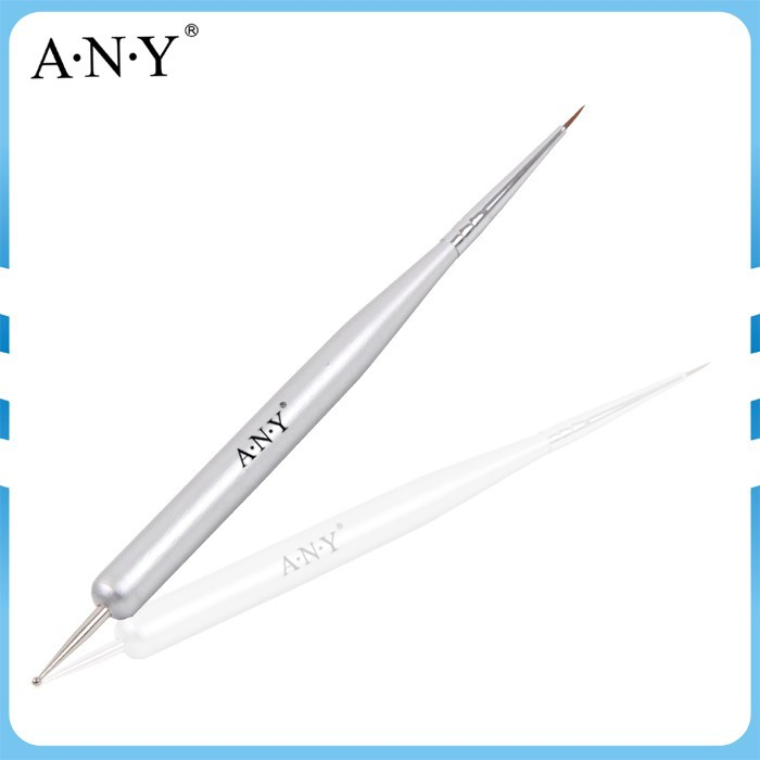 ANY Single Piece Nail Art Painting Design Silver Wood Handle Micropainting Nail Art Brush+Dotting Tools