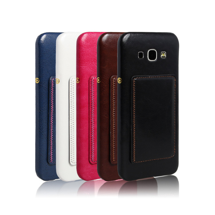Credit card slots Leather stand hard Case For Samsung A8,for samsung galaxy a8 cover