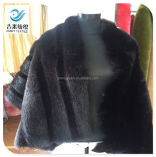 long pile hair plush fur fabric CUT LINE for fox fur vest