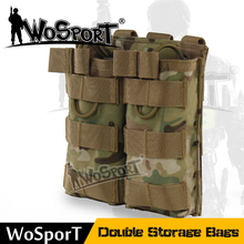 WoSporT Outdoor Tactical Nylon Accessory Magazine Pouch Mag Bag for Molle Vest Double Storage Bags