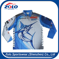 Cheap Custom dye Sublimation printing tournament fishing shirts